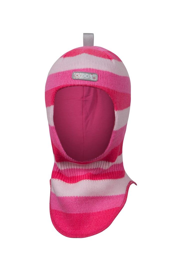Шапка-шлем для девочки РадугаДетские шапки<br>Удобная и практичная шапка-шлем отлично подойдет для активных зимних прогулок и занятий спортом на свежем морозном воздухе. Она надежно защитит не только голову Вашей маленькой непоседы, но ее нежную шею.<br><br>Размер: 50-52<br>Цвет: Розовый