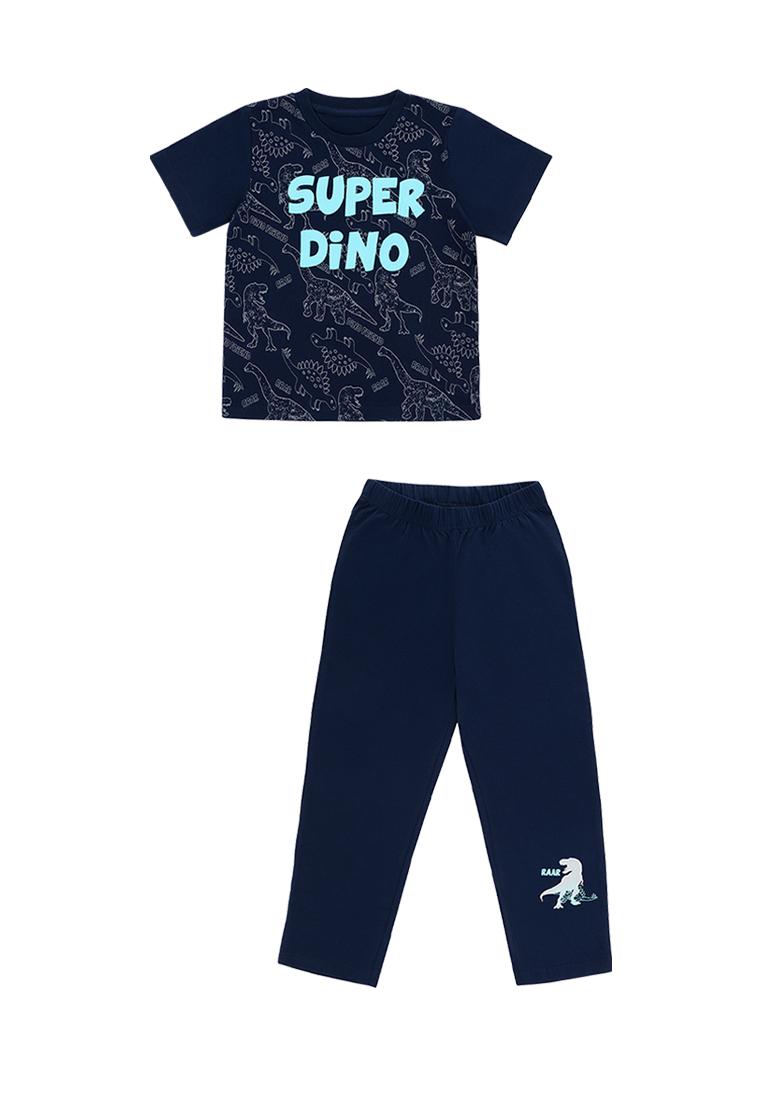 Купить Пижама для мальчика, футболка с коротким рукавом и брюки Сэм , OLDOS, 104, 110, 116, 122, 128, 134, 140, 98